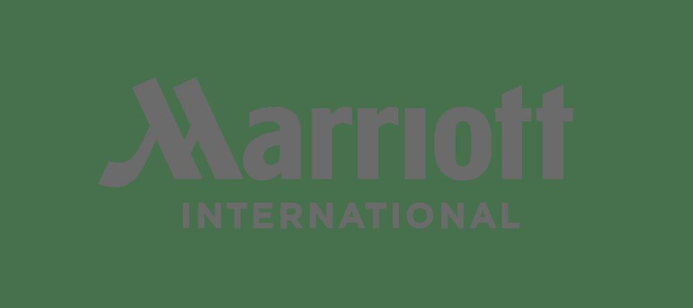 Greyscale Marriott logo.