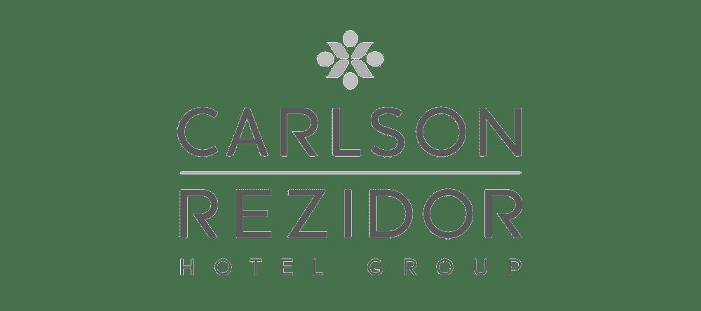 Greyscale Carlson Rezidor logo.