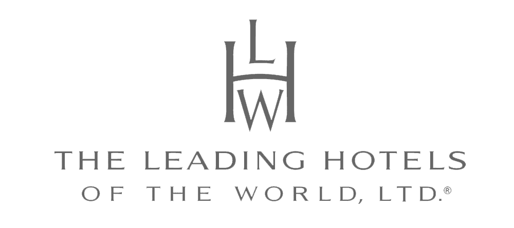 Greyscale The Leading Hotels of the World logo.