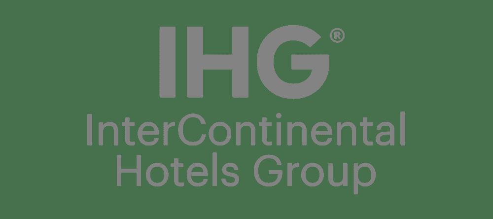 Greyscale IHG logo.