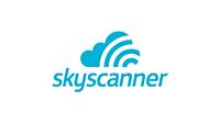 Skyscanner logo.