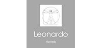 Greyscale Leonardo Hotels logo.