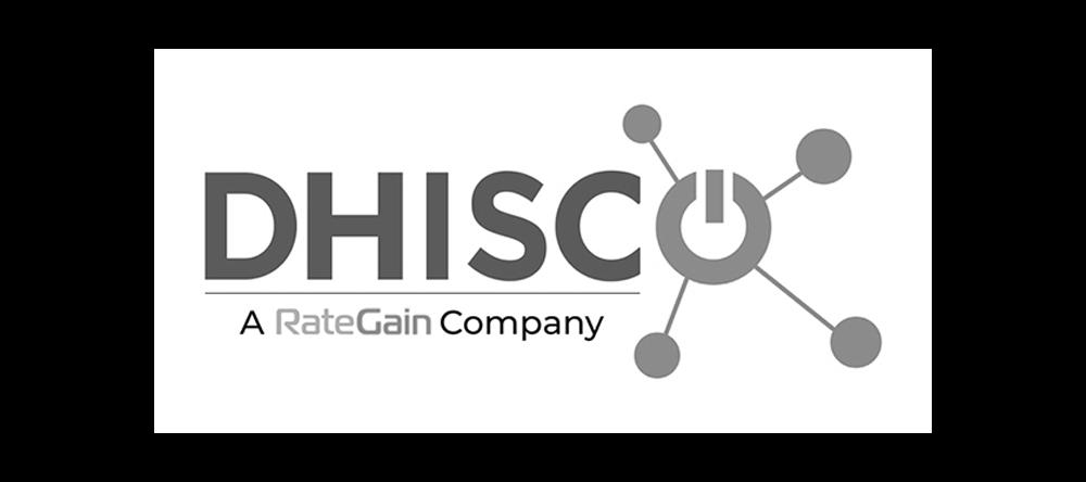 dhisco a rategain company logo