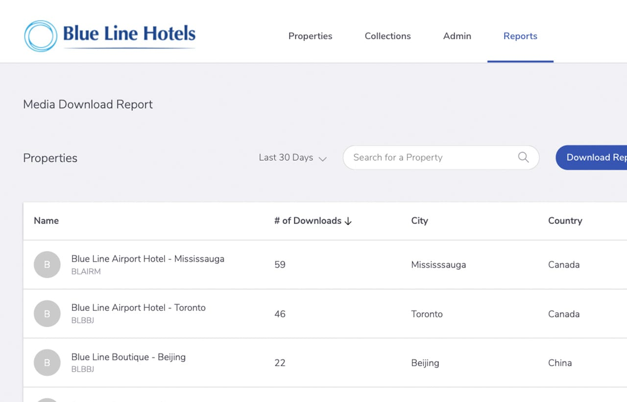 View media download reports